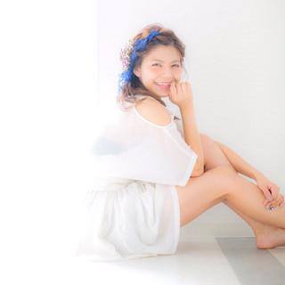 ルーズ 波ウェーブ ウェーブ セミロング ヘアスタイルや髪型の写真・画像