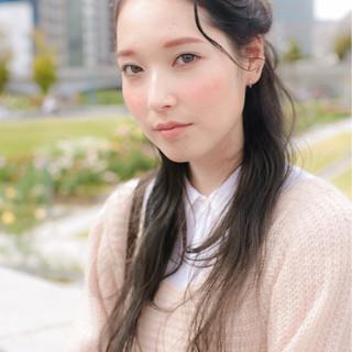 ゆるふわ 大人女子 簡単ヘアアレンジ ロング ヘアスタイルや髪型の写真・画像