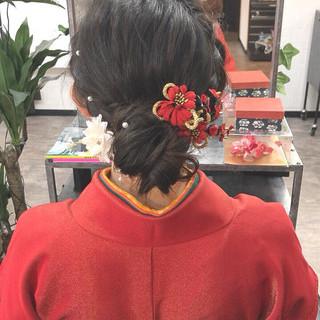 卒業式 エレガント ヘアアレンジ 袴 ヘアスタイルや髪型の写真・画像