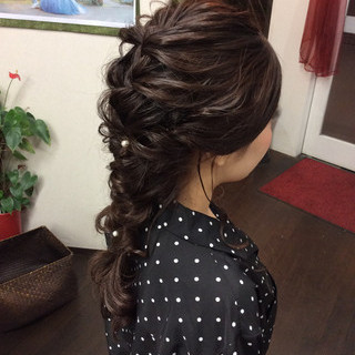 簡単ヘアアレンジ ロング 結婚式 ヘアアレンジ ヘアスタイルや髪型の写真・画像 ヘアスタイルや髪型の写真・画像