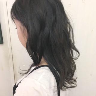 ストリート 暗髪 グレージュ レイヤーカット ヘアスタイルや髪型の写真・画像