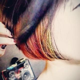 ヘアアレンジ 坊主 ショート モード ヘアスタイルや髪型の写真・画像