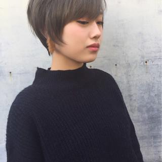 ストリート 冬 ショート 秋 ヘアスタイルや髪型の写真・画像
