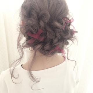 ハイライト 外国人風 ヘアアレンジ 結婚式 ヘアスタイルや髪型の写真・画像