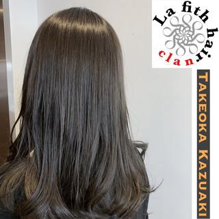ダメージレス ロング グレージュ ナチュラル ヘアスタイルや髪型の写真・画像