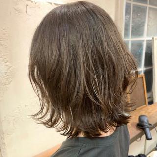 ナチュラル ゆるふわパーマ  ボブウルフ ヘアスタイルや髪型の写真・画像
