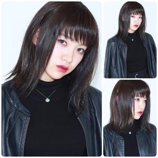暗髪 イルミナカラー 黒髪 パープル ヘアスタイルや髪型の写真・画像 ヘアスタイルや髪型の写真・画像