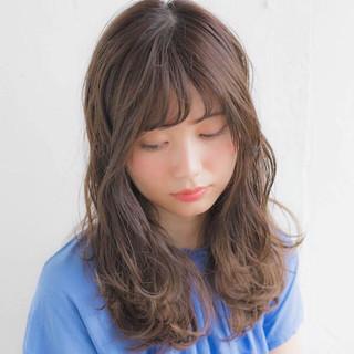 ヘアアレンジ フェミニン 抜け感 セミロング ヘアスタイルや髪型の写真・画像