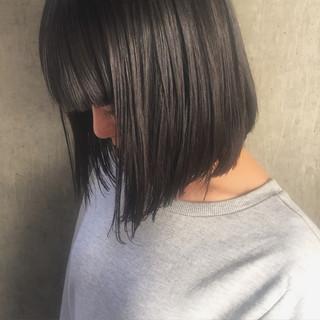 ストリート 暗髪 ボブ アッシュ ヘアスタイルや髪型の写真・画像