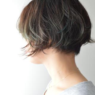 アウトドア ナチュラル ショート アッシュ ヘアスタイルや髪型の写真・画像 ヘアスタイルや髪型の写真・画像
