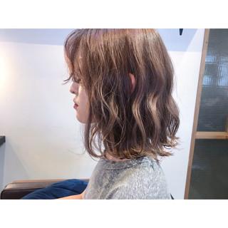 ミディアム 簡単ヘアアレンジ スモーキーカラー ヘアアレンジ ヘアスタイルや髪型の写真・画像