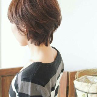 フェミニン パーマ こなれ感 ショート ヘアスタイルや髪型の写真・画像