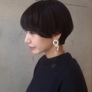 似合わせ 簡単 ショート 小顔 ヘアスタイルや髪型の写真・画像