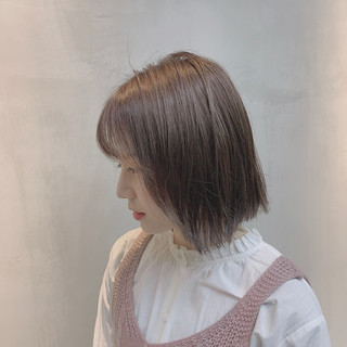 ブルージュ ナチュラル グレージュ 透明感カラー ヘアスタイルや髪型の写真・画像