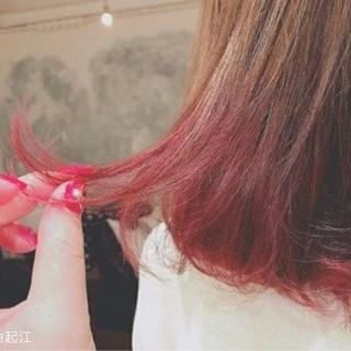 ゆるふわ 外国人風カラー デート セミロング ヘアスタイルや髪型の写真・画像