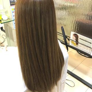 外国人風 コンサバ ハイライト ロング ヘアスタイルや髪型の写真・画像