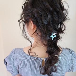 パーティ 結婚式 ヘアアレンジ ロング ヘアスタイルや髪型の写真・画像