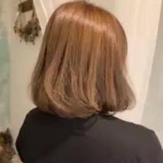 ボブ エレガント 大人かわいい ハイライト ヘアスタイルや髪型の写真・画像