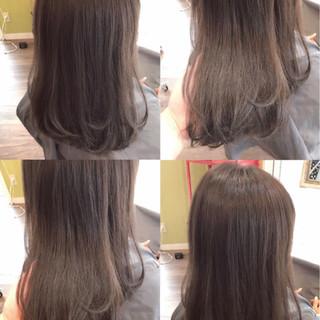 ラベンダーアッシュ 透明感 巻き髪 ナチュラル ヘアスタイルや髪型の写真・画像