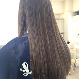 ロング 愛され グラデーションカラー 艶髪 ヘアスタイルや髪型の写真・画像