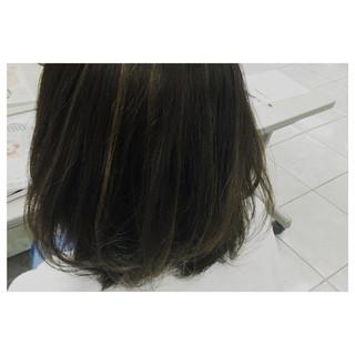 ボブ ガーリー ハイライト ヘアアレンジ ヘアスタイルや髪型の写真・画像