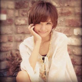 モテ髪 秋 ショート ナチュラル ヘアスタイルや髪型の写真・画像