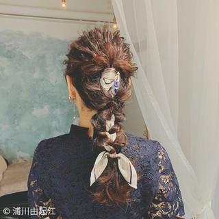 ロング ヘアアレンジ デート ゆるふわ ヘアスタイルや髪型の写真・画像