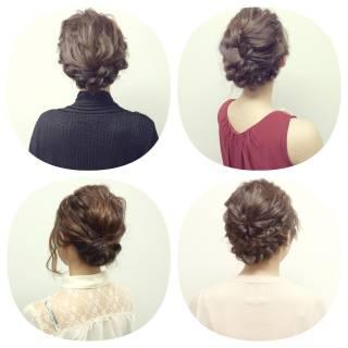 結婚式 ナチュラル アップスタイル ヘアアレンジ ヘアスタイルや髪型の写真・画像