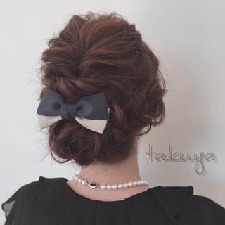 くるりんぱ 結婚式 編み込み ヘアアレンジ ヘアスタイルや髪型の写真・画像 ヘアスタイルや髪型の写真・画像
