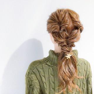 簡単ヘアアレンジ デート アウトドア ヘアアレンジ ヘアスタイルや髪型の写真・画像