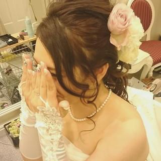 ロング ゆるふわ ガーリー ドレス ヘアスタイルや髪型の写真・画像