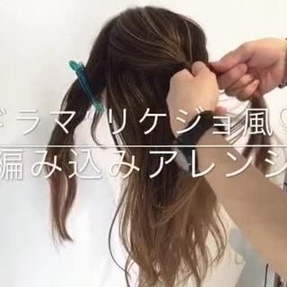 デート フェミニン アウトドア セミロング ヘアスタイルや髪型の写真・画像