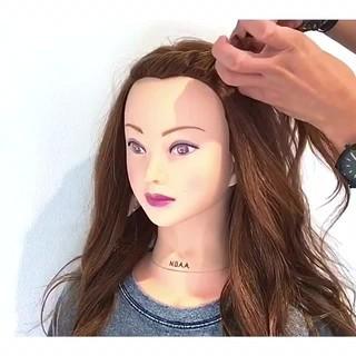 デート 夏 ロング 簡単ヘアアレンジ ヘアスタイルや髪型の写真・画像
