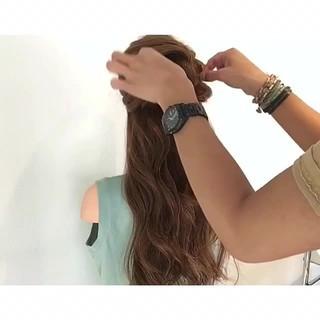 簡単ヘアアレンジ 結婚式 デート 女子会 ヘアスタイルや髪型の写真・画像