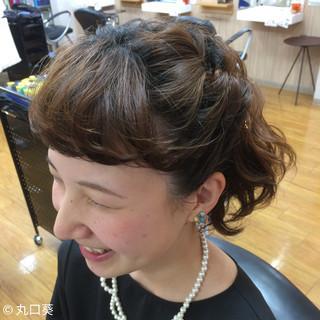 ヘアアレンジ ボブ 二次会 結婚式 ヘアスタイルや髪型の写真・画像