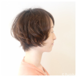 ショート パーマ 涼しげ ヘアアレンジ ヘアスタイルや髪型の写真・画像 ヘアスタイルや髪型の写真・画像