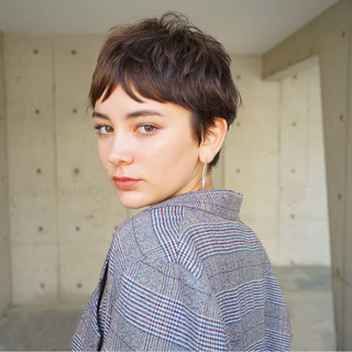 束感 モード マッシュ ゆるふわ ヘアスタイルや髪型の写真・画像