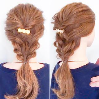 オフィス ロング ヘアアレンジ 簡単ヘアアレンジ ヘアスタイルや髪型の写真・画像 ヘアスタイルや髪型の写真・画像