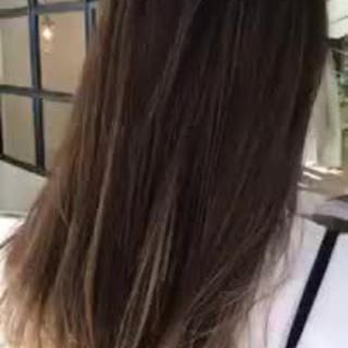 デート グラデーションカラー 外国人風 ロング ヘアスタイルや髪型の写真・画像