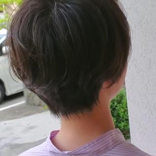 簡単ヘアアレンジ ショート ナチュラル デート ヘアスタイルや髪型の写真・画像
