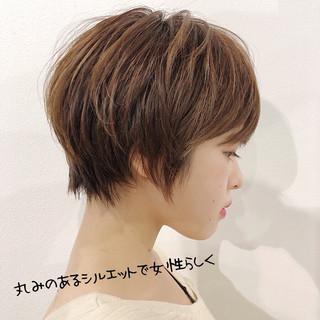ショートボブ デート ショートヘア マッシュショート ヘアスタイルや髪型の写真・画像