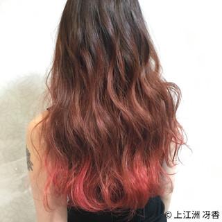 ハイトーン グラデーションカラー ロング ヘアアレンジ ヘアスタイルや髪型の写真・画像 ヘアスタイルや髪型の写真・画像