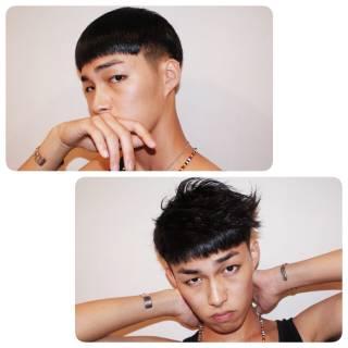 黒髪 ショート モード 外国人風 ヘアスタイルや髪型の写真・画像
