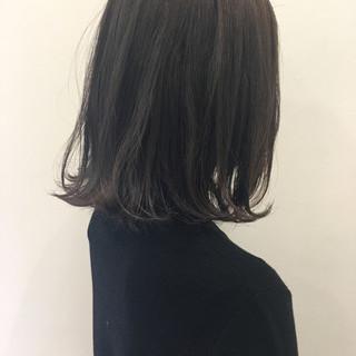 ボブ アッシュ ニュアンス 暗髪 ヘアスタイルや髪型の写真・画像