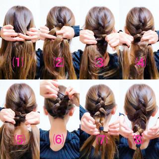セルフヘアアレンジ エレガント 編み込み ヘアアレンジ ヘアスタイルや髪型の写真・画像 ヘアスタイルや髪型の写真・画像