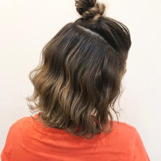 ヘアアレンジ ハーフアップ ストリート ボブ ヘアスタイルや髪型の写真・画像