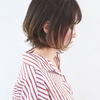 外ハネボブ グラデーションカラー ナチュラル 外国人風カラー ヘアスタイルや髪型の写真・画像 ヘアスタイルや髪型の写真・画像