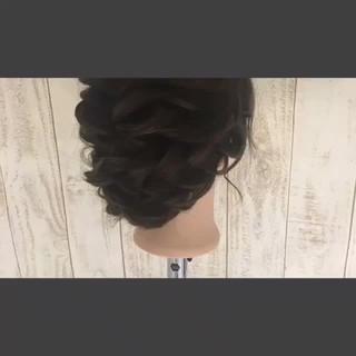 結婚式 大人かわいい ルーズ ヘアアレンジ ヘアスタイルや髪型の写真・画像