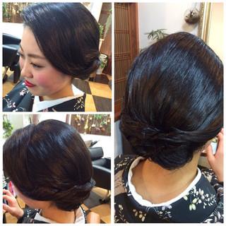 黒髪 ヘアアレンジ ボブ まとめ髪 ヘアスタイルや髪型の写真・画像 ヘアスタイルや髪型の写真・画像