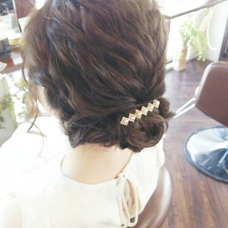 女子会 結婚式 ボブ ナチュラル ヘアスタイルや髪型の写真・画像